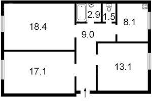 №11115805, продается квартира, 3 комнаты, площадь 70 м², ул.Ереванская, 5, г.Киев, Киевская область, Украина