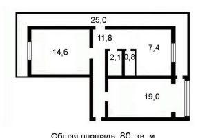 №12004166, продается квартира, 2 комнаты, площадь 55 м², ул.Булаховского академика, 28б, г.Киев, Киевская область, Украина
