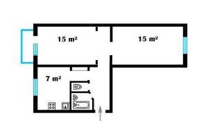 №12115927, продается квартира, 2 комнаты, площадь 47 м², ул.Братиславская, 6, г.Киев, Киевская область, Украина
