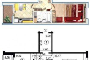 №12604231, продается однокомнатная квартира, 1 комната, площадь 43 м², ул.Чавдар Елизаветы, 38б, г.Киев, Киевская область, Украина