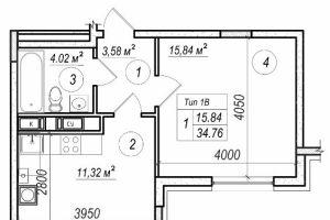 №12923006, продается однокомнатная квартира, 1 комната, площадь 35 м², ул.Практичная, 8, г.Киев, Киевская область, Украина