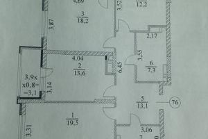 №12949045, продается квартира, 3 комнаты, площадь 95.1 м², ул.Богдановская, 7б, г.Киев, Киевская область, Украина