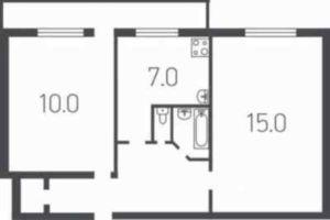№12971944, продается двухкомнатная квартира, 2 комнаты, площадь 43 м², ул.Чернобыльская, 9, г.Киев, Киевская область, Украина