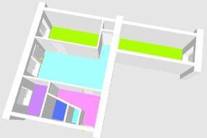 №13001202, продается квартира, 3 комнаты, площадь 56 м², ул.Московская, 3, г.Херсон, Херсонская область, Украина