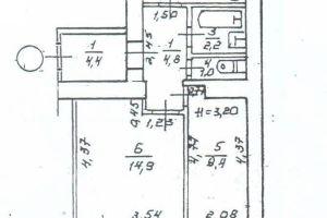№13057298, продается квартира, 2 комнаты, площадь 45 м², пер.1-й водопроводный, 7, г.Одесса, Одесская область, Украина