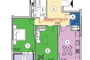 №13153942, продается двухкомнатная квартира, 2 комнаты, площадь 73 м², ул.Ревуцкого, 40, г.Киев, Киевская область, Украина