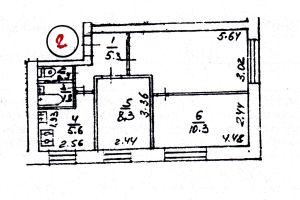 №13168340, продается трехкомнатная квартира, 3 комнаты, площадь 48.3 м², ул.Метрологическая, 8, г.Киев, Киевская область, Украина