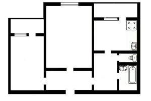 №13178381, продается двухкомнатная квартира, 2 комнаты, площадь 55.4 м², ул.Феодосийская, 8, г.Киев, Киевская область, Украина