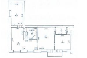 №13271861, продается квартира, 3 комнаты, площадь 95 м², ул.Горловская, 220, г.Киев, Киевская область, Украина