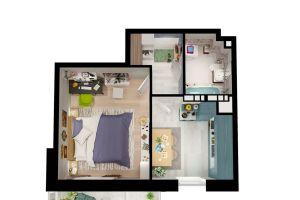 №13401449, продается квартира, 1 комната, площадь 36 м², ул.Бориса Гмыри, 9, г.Буча, Киевская область, Украина