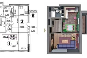 №13541331, продается квартира, 1 комната, площадь 44 м², ул.Евгения Маланюка, 101 а, г.Киев, Киевская область, Украина