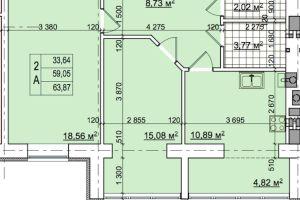 №13542044, продается квартира, 2 комнаты, площадь 64 м², Тарасівська, 8а, г.Буча, Киевская область, Украина