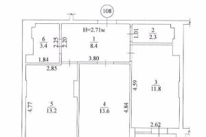 №13552592, продается квартира, 2 комнаты, площадь 57 м², ул.Булгакова, 12, г.Киев, Киевская область, Украина