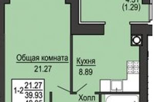 №13696167, продается квартира, 1 комната, площадь 43 м², ул.Соборная, 126, с.Софиевская Борщаговка, Киевская область, Украина