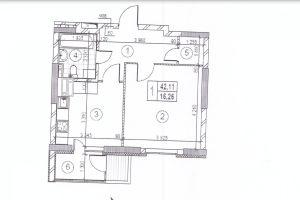 №13714319, продается квартира, площадь 43 м², ул.Набережная, 1, г.Вышгород, Киевская область, Украина
