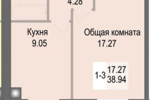 №13723969, продается квартира, 1 комната, площадь 39 м², ул.Соборная, 126, с.Софиевская Борщаговка, Киевская область, Украина