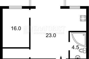 №13737154, продается квартира, 2 комнаты, площадь 44 м², бул.Леси Украинки, 16, г.Киев, Киевская область, Украина
