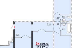 №13737640, продается квартира, 3 комнаты, площадь 102 м², ул.Новокузнецкая, 57, г.Запорожье, Запорожская область, Украина