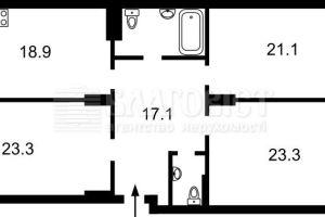 №13739381, продается квартира, 3 комнаты, площадь 122 м², ул.Михаила Максимовича, 3г, г.Киев, Киевская область, Украина